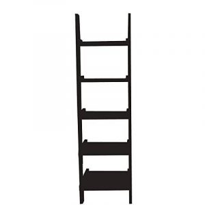 Mervy - Étagère murale style échelle, Étagère échelle, Étagère de rangement 5 niveaux, 56x189x32.50cm - 3 coloris (noir) de la marque image 0 produit