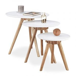 Notre comparatif de   Table basse ronde 3 pieds TOP 4 image 0 produit · Relaxdays  Table d appoint ... 5c7888e9938d