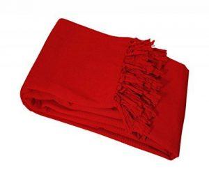 Nuances du Monde Jeté de Fauteuil Lana 180x220 cm Rouge de la marque image 0 produit