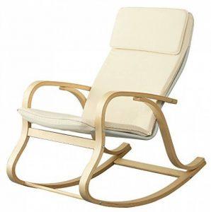 Orolay à Bascule Berçant Fauteuil Relax Bouleau Flexible blanc de la marque image 0 produit