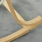 orolay confortable Fauteuil à bascule relax chaise Chaise Lounge avec coussin en tissu en coton Crème - Rouge de la marque Orolay image 5 produit