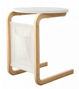 Orolay Guéridon Table d'appoint ronde 2 pieds ZKFZ02 blanc de la marque image 0 produit