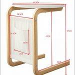 Orolay Guéridon Table d'appoint ronde 2 pieds ZKFZ02 blanc de la marque image 3 produit