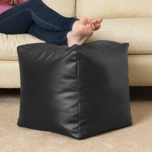 Pouf poire CUBE en faux cuir NOIR- Tabouret Pouf Poire par Bean Bag Bazaar® de la marque image 0 produit