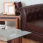 Premier Housewares 2401939 Gigognes Fargo 3 Tables en Placage de Noyer Laqué Noir Détail de la marque image 5 produit