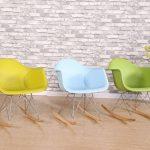 Promo 1 x Fauteuil à Bascule Rocking Chair Eiffel Pieds Bois Clair Assise Blanc Mobistyl® RARL-WH-1 de la marque image 6 produit
