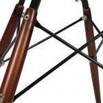 Promo 4 x Chaise Design Inspiration Eiffel Pieds Bois Vernis Noyer Assise Cuir Marron Simili Mobistyl® DSWD-CF-4 de la marque MOBISTYL image 3 produit