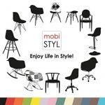 Promo 4 x Chaise Design Inspiration Eiffel Pieds Bois Vernis Noyer Assise Cuir Marron Simili Mobistyl® DSWD-CF-4 de la marque MOBISTYL image 5 produit