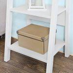 Promotion -15%! SoBuy® FRG101-W Étagère style échelle Bibliothèque - 5 étages –Blanc de la marque SoBuy image 5 produit