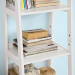 Promotion -15% ! SoBuy® FRG116-K-W Bibliothèque Étagère style échelle de 4 niveaux et 1 tiroir –Blanc L44xP40xH160cm de la marque image 6 produit