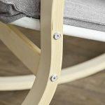 Promotion -20%! SoBuy® FST15-DG Rocking Chair, Fauteuil à bascule, Fauteuil berçant, Fauteuil relax, Bouleau Flexible -Gris de la marque image 5 produit