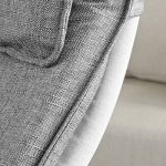 Promotion -20%! SoBuy® FST15-DG Rocking Chair, Fauteuil à bascule, Fauteuil berçant, Fauteuil relax, Bouleau Flexible -Gris de la marque image 6 produit