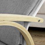 Promotion -20%! SoBuy® FST15-DG Rocking Chair, Fauteuil à bascule, Fauteuil berçant, Fauteuil relax, Bouleau Flexible -Gris de la marque SoBuy image 4 produit