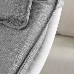 Promotion -20%! SoBuy® FST15-DG Rocking Chair, Fauteuil à bascule, Fauteuil berçant, Fauteuil relax, Bouleau Flexible -Gris de la marque SoBuy image 6 produit