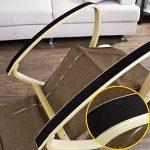 Promotion -20% ! SoBuy® FST18-BR Réponge plus épais ! Fauteuil à bascule Rocking Chair avec repose-pieds réglable Café, Bouleau Flexible + 1 pochette latérale gratuite de la marque image 5 produit