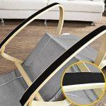 Promotion -20%! SoBuy® FST18-DG éponge plus épais, Rocking Chair Fauteuil à bascule berçante avec repose-pieds réglable Bouleau + 1 pochette latérale gratuite de la marque image 5 produit