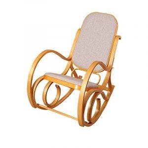 Rocking-chair, fauteuil à bascule M41, imitation chêne, tissu beige de la marque image 0 produit