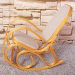 Rocking-chair, fauteuil à bascule M41, imitation chêne, tissu beige de la marque image 2 produit