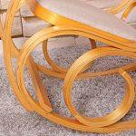 Rocking-chair, fauteuil à bascule M41, imitation chêne, tissu beige de la marque image 3 produit