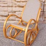 Rocking-chair, fauteuil à bascule M41, imitation chêne, tissu beige de la marque image 5 produit