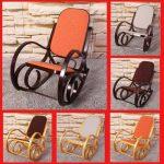 Rocking-chair, fauteuil à bascule M41, imitation chêne, tissu beige de la marque image 6 produit