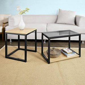 SoBuy® FBT35-Sch Tables Basses Gigognes - Set de 2 de la marque image 0 produit