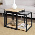 SoBuy® FBT35-Sch Tables Basses Gigognes - Set de 2 de la marque image 1 produit