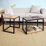 SoBuy® FBT35-Sch Tables Basses Gigognes - Set de 2 de la marque image 4 produit
