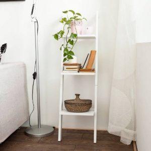 SoBuy® FRG32-W Étagère murale style échelle pour salon salle de bain Meuble de rangement L33xH121xP23cm -3 étages, Blanc de la marque image 0 produit