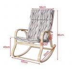 SoBuy® FST15-W Fauteuil à bascule, Fauteuil berçant, Rocking Chair, Fauteuil relax, Bouleau Flexible -Beige de la marque image 1 produit