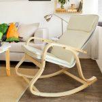 SoBuy® FST15-W Fauteuil à bascule, Fauteuil berçant, Rocking Chair, Fauteuil relax, Bouleau Flexible -Beige de la marque image 2 produit