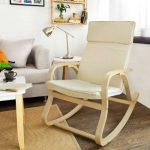 SoBuy® FST15-W Fauteuil à bascule, Fauteuil berçant, Rocking Chair, Fauteuil relax, Bouleau Flexible -Beige de la marque image 3 produit