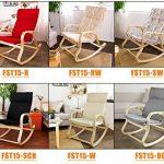 SoBuy® FST15-W Fauteuil à bascule, Fauteuil berçant, Rocking Chair, Fauteuil relax, Bouleau Flexible -Beige de la marque image 6 produit