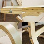 SoBuy® FST15-W Fauteuil à bascule, Fauteuil berçant, Rocking Chair, Fauteuil relax, Bouleau Flexible -Beige de la marque SoBuy image 4 produit