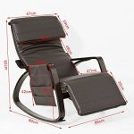 SoBuy® FST20-BR Eponge plus épais!! Fauteuil à bascule berçante relax avec pochette latérale amovible, Rocking Chair Bouleau Flexible de la marque image 1 produit