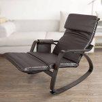 SoBuy® FST20-BR Eponge plus épais!! Fauteuil à bascule berçante relax avec pochette latérale amovible, Rocking Chair Bouleau Flexible de la marque image 2 produit
