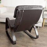 SoBuy® FST20-BR Eponge plus épais!! Fauteuil à bascule berçante relax avec pochette latérale amovible, Rocking Chair Bouleau Flexible de la marque image 3 produit