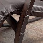 SoBuy® FST20-BR Eponge plus épais!! Fauteuil à bascule berçante relax avec pochette latérale amovible, Rocking Chair Bouleau Flexible de la marque image 5 produit