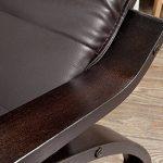 SoBuy® FST20-BR Eponge plus épais!! Fauteuil à bascule berçante relax avec pochette latérale amovible, Rocking Chair Bouleau Flexible de la marque image 6 produit