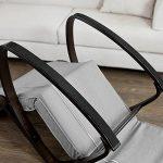 SoBuy® FST20-HG Eponge plus épais!! Fauteuil à bascule berçante relax avec pochette latérale amovible, Rocking Chair Bouleau Flexible de la marque image 3 produit