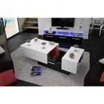 SODA Table basse 116/150x51 cm - Blanc de la marque image 1 produit