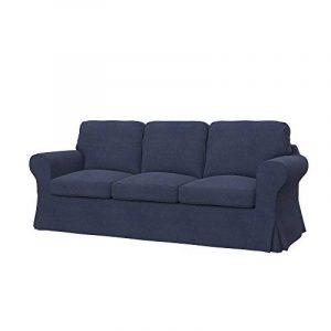 Soferia - IKEA EKTORP PIXBO housse de convertible 3places, Naturel Navy Blue de la marque image 0 produit