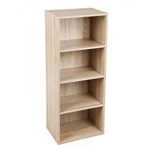 Songmics Bibliothèque Etagère de bureau pour salle de séjour, chambre ou bureau Couleur bois naturel LBC104H de la marque image 0 produit