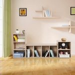 Songmics Bibliothèque Etagère de bureau pour salle de séjour, chambre ou bureau Couleur bois naturel LBC104H de la marque image 3 produit