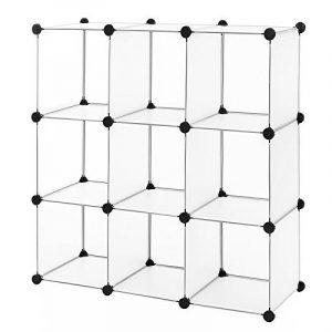 Songmics Commode Cubes/étagère de rangement modulables plastiques cadre en métal LPC115 de la marque image 0 produit