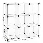 Songmics Commode Cubes/étagère de rangement modulables plastiques cadre en métal LPC115 de la marque image 6 produit