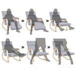 Songmics Fauteuil à bascule Rocking Chair avec Repose-pied réglable 5 niveaux Charge max 150 kg Gris LYY42G de la marque image 1 produit