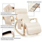 Songmics Fauteuil à bascule Rocking Chair avec Repose-pieds réglable à 5 niveaux design Charge maximum: 150 kg lin beige LYY12M de la marque image 1 produit