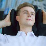 Songmics Fauteuil de bureau avec Appui-tête modulable Repose-pieds télescopique Chaise pivotant Design ergonomique Noir Grande taille OBG75B de la marque image 3 produit