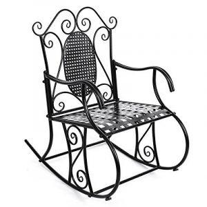 Songmics Feuteuil/Chaise à bascule en fer pour Balcon Jardin Salle GRC101B de la marque image 0 produit